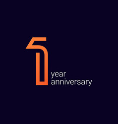 1 year anniversary celebration template design vector