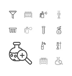 13 chemical icons vector
