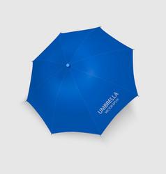 3d realistic renderblue blank umbrella icon vector