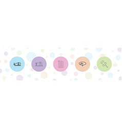 5 attach icons vector