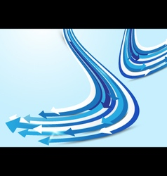 Abstract blue and white arrows background vector image