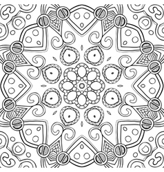 Abstract Hand-drawn Mandala-02 vector