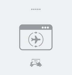 airline concept flat icon vector image