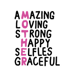 amazing mother mother day quote best for print vector image
