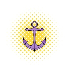 Anchor icon in comics style vector image