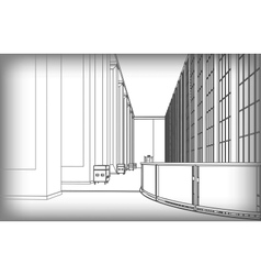 Architectural structure of buildings vector