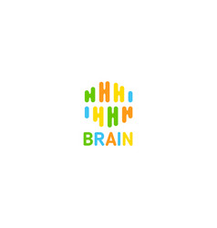 Art creative brain linea logo idea vector