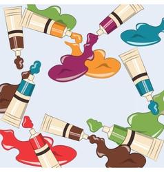 Art supplies background vector image