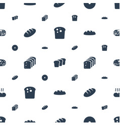 bake icons pattern seamless white background vector image