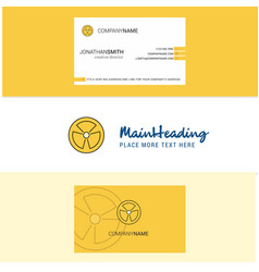 beautiful fan logo and business card vertical vector image