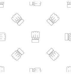 big fist pattern seamless vector image