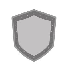 Black line shield icon vector