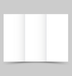 blank white tri fold paper brochure with shadow vector