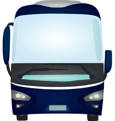 blue bus vector image