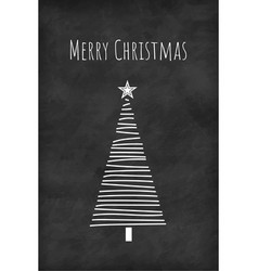 Christmas tree concept card or phone wallpaper vector