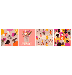 collection greeting card or postcard templates vector image