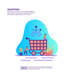 concept shopping modern conceptual for banner vector image