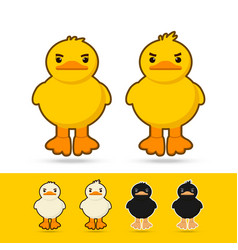 couple duck vector image