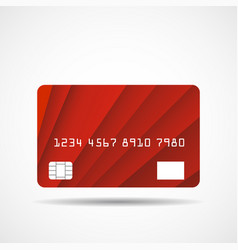 credit card icon with overlap red lines isolated vector image