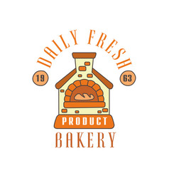 Daily fresh bakery product logo template estd vector