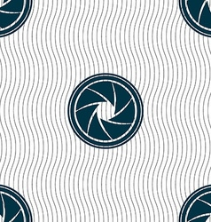 diaphragm icon Aperture sign Seamless pattern with vector image