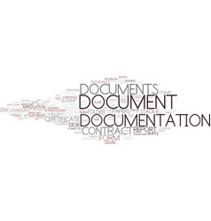 Documentation word cloud concept vector