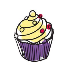 English dessert hand drawn isolated icon vector