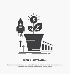 finance financial growth money profit icon glyph vector image
