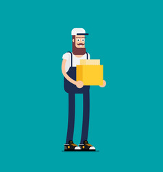 flat design colorful concept for delivery vector image