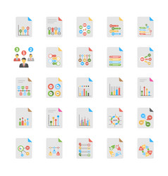 flat set of business analytics vector image