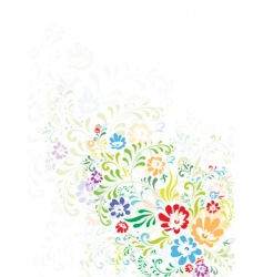 floral abstract decoration vector image