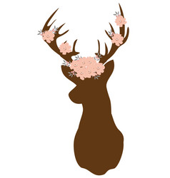 Floral deer vector