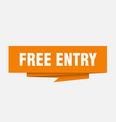 free entry vector image
