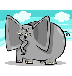 funny elephants cartoon against sky vector image