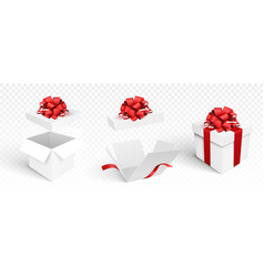 Gift boxes template isolated vector