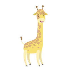giraffe cute toy animal with detailed elements vector image