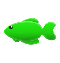 green fish icon cartoon style vector image