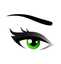 green woman eye vector image