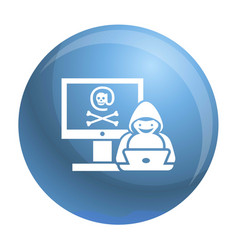Hacker activity icon simple style vector