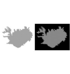 halftone iceland map vector image
