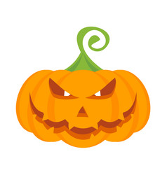 Halloween party pumpkin character with burning vector
