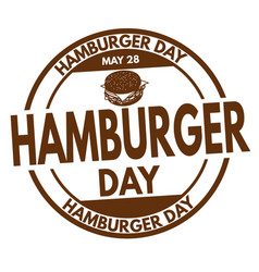 hamburger day sign or stamp vector image