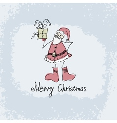 hand drawn Christmas of Santa vector image