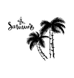 Hand drawn coconut palm vector