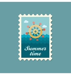 Helm flat stamp summertime vector