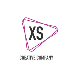 initial letter xs triangle design logo concept vector image