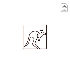 Kangaroo logo design icon element isolated vector
