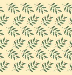 leaf seamless pattern design for wallpaper vector image