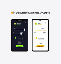 loan money mobile application concept micro vector image