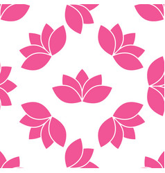 lotus flower seamless pattern vector image